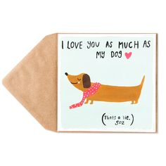 Dachshund+With+Scarf+Card+Price+$4.95
