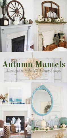 Autumn mantels can be decorated in so many ways and can give you a great place that will allow memories to be made. We've selected and been inspired by mantels that include decor that feels cozy and make you want to linger longer. These can be used to give you inspiration for the fall or winter and in a rustic or farmhouse setting. Make some hot chocolate and roast some smores and enjoy your loved ones!