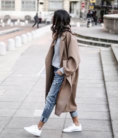 Winter style with H&M nude coat || ig @junesixtyfive