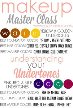 Makeup Master Class: Understanding Your Undertones