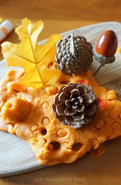 This yummy smelling pumpkin pie spice play dough is a feast for the senses. Autumn Activities, Craft Activities For Kids, Preschool Activities, Crafts For Kids, Nursery Activities, Halloween Activities, Activity Ideas, Halloween Crafts, Fall Preschool