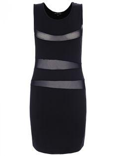 Άκρως sexy φόρεμα με διακεκομμένα διαφανές σημεία.  Χρώμα: μαύρο. Dresses For Work, Sexy, Top, Fashion, Moda, Fashion Styles, Fashion Illustrations, Crop Tee