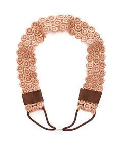 Lurex Crochet Headwrap: Charlotte Russe