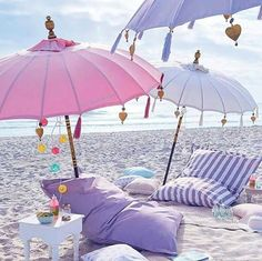 Can't wait to head to the beach this summer. I need these pastel umbrellas! Perfect for surf sand and sun! Beach Bum, Summer Beach, Summer Vibes, Summer Fun, Summer Goals, Pink Summer, Hello Summer, Summer Travel, Beach Picnic