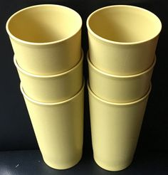 Vintage Tupperware Tumblers Harvest Gold by Fraservalleyjewels