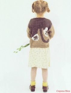 Kitten intarsia sweater pattern Пуловер с кошкой (интарсия)