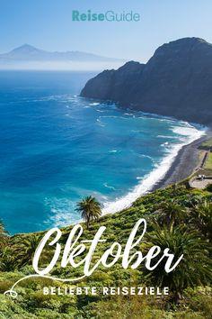 Wenn die Tage in Deutschland kälter werden, solltest du hier Urlaub machen! --- Reiseguide.de --- Beach, Water, Outdoor, La Gomera, Small Island, Vacation Places, Lisbon, Gripe Water, Outdoors