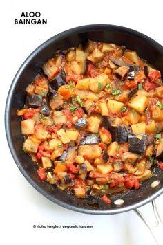 Aloo Baingan Recipe - Potato Eggplant Curry - Vegan RichaBloglovinFacebookGoogle InstagramPinterestRSSTwitterYouTube