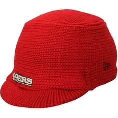 Youth San Francisco 49ers Scarlet/Black Tassel Knit Hat With Pom
