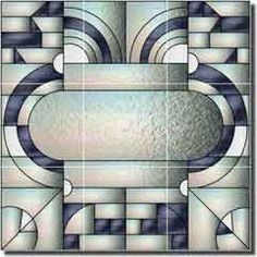 Rich Art Deco Ceramic Tile Mural 18