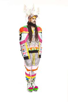Tribal Raver Fashions - These Tom Van Der Borght Designs are Fiercely Florescent (GALLERY)