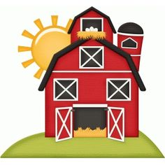 I think I'm in love with this design from the Silhouette Design Store! Crafts To Do, Crafts For Kids, Paper Crafts, Diy Crafts, Farm Animal Birthday, Farm Birthday, Mcdonalds Birthday Party, Animal Cutouts, Barn Wood Crafts