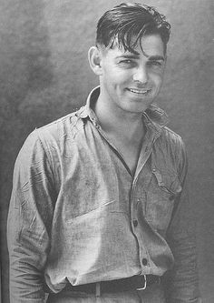 "Clark Gable --  whenever I see this photo, I have a moment of  ""Oh, George Clooney in 'O Brother, Where Art Thou?'"""