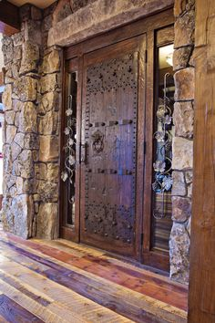Beautiful front door - Sugar Bowl Custom Residence › Frontier Builders
