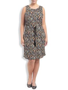 Lucky Brand All Over Printed Dress Womens - Pink Multi (3X)