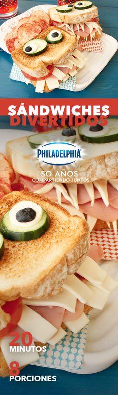 Te conocemos, estos Sándwiches divertidos serán la mejor celebración para tus peques.   #recetas #receta #quesophiladelphia #philadelphia #quesocrema #queso #comida #cocinar #cocinamexicana #recetasfáciles #recetasPhiladelphia #recetasdecocina #comer #sandwiches #lunch #niños #niño #sandwich #familia #jamon #desayuno #pan