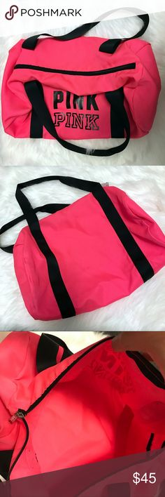 VS PINK neon pink gym duffle bag VS PINK neon pink gym duffle bag - never used and clean! PINK Victoria's Secret Bags
