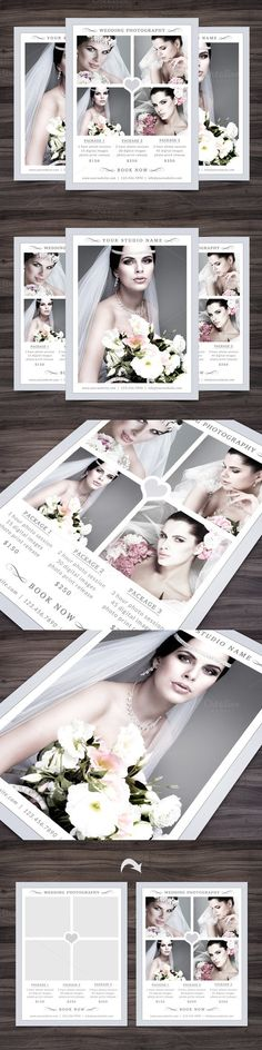 Photography Flyer Template. Wedding Fonts. $12.00