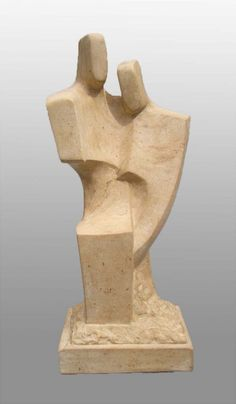Ancaster stone Interior Sculptures #sculpture by #sculptor John Brown titled: 'Unison ll Interior Sculpture' £2750 #art