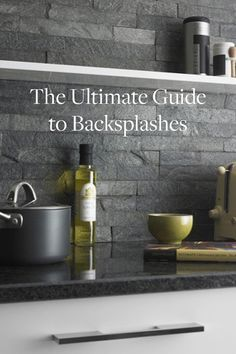The Ultimate Guide to Backsplashes. A simple way to upgrade your kitchen.  Photo from Tracey Thomas