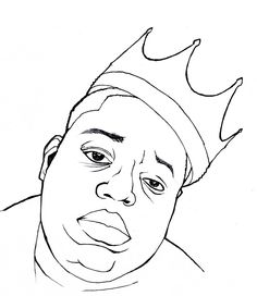 Image result for biggie smalls easy drawing