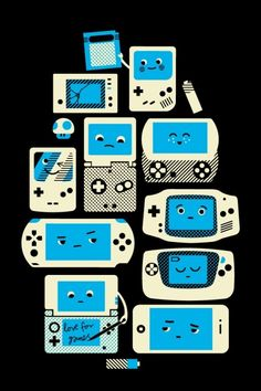 #GameBoys of Years Past. Basically the definition of #perfection.   #Nintendo gal forever.