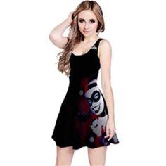 HARLEY QUINN SLEEVELESS DRESS SIZES XS,S,M,L,XL,2XL,3XL for only $34.99