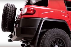 FJ Cruiser Trail Series Rear Bumper with Smooth Motion STC System, smooth motion tire carrier, expedition one rear bumper, FJ Cruiser aftermarket bumper Fj Cruiser, Jeep, Monster Trucks, Trail, Smooth, Toyota, Dj, Cars, Autos
