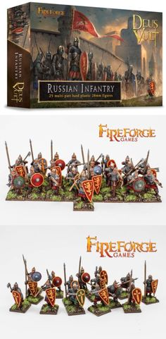 28mm 158730: 28Mm Medieval Russian Infantry, Deus Vult, Fireforge Games, The Crusades -> BUY IT NOW ONLY: $35 on eBay!