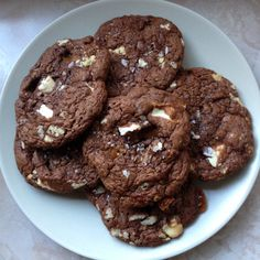Fudgy Toffee and White Chocolate Cookies