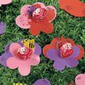 Valentine Pop Foam Flowers Craft Kit. Valentines Day crafts for children.