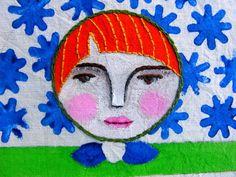 Detalle de rostro de matrioska by María Tenorio, via Flickr
