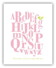 Alphabet printable - boy colors, too.