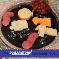 DIY Dollar Store Chalkboard Tray