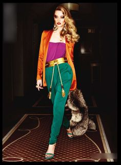 Gorgeous in Gucci. Love how all the vibrant colors come together to make a beautiful picture!