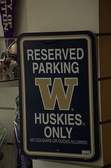 UW parking sign
