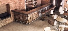 industrial style bar - Google Search