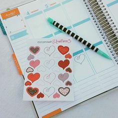 Cute heart stickers!  #stickers #plannerstickers #planner #erincondren #erincondrenlifeplanner #eclp #jlynnpaperco #etsy #planneraddict #plannerlove #plannerjunkie #valentines #valentinesday #hearts