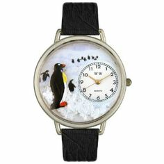 Whimsical Watches Unisex U0140006 Penguin Black Skin Leather Watch Whimsical Watches. $38.10