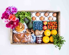 This bountiful box by Summerland Farm To Frontdoor is packed with gorgeous flowers, pantry items, artisanal jam from INNA, Portland crafted ...