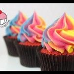 VIDEO: Easy Rainbow Frosting Swirl Technique for Cupcakes! - A Cupcake Addiction How To Tutorial