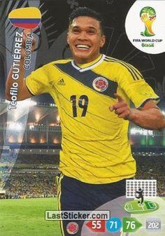 Card 87: Teófilo Gutiérrez - Panini FIFA World Cup Brazil 2014. Adrenalyn XL - laststicker.com