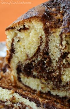 There's no butter in this moist, healthy, lightly sweet chocolate-orange marble cake made with extra light olive oil, and fresh orange peel. Marble Cake Recipe Moist, Marble Cake Recipes, Easy Cake Recipes, Baking Recipes, Dessert Recipes, Desserts, Marble Cake Recipe With Oil, Cakes To Make, How To Make Cake