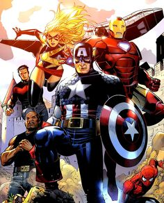 Captain America and Avengers by Jim Cheung