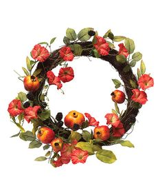 Another great find on #zulily! Morning Glory Pomegranate Wreath #zulilyfinds