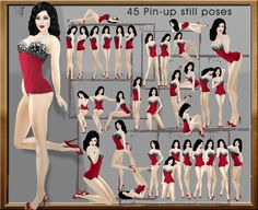 TuTy's - 45 PIN-UP POSES + Posing hud