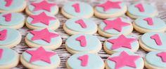star cookies, galletas estrella, fucsia, turquesa, turquoise, 1, 1 year party, galletas 1 año