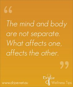 #Healthy_living for your mind and body:The mind and body work together #health_quote