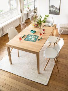 Micasa Wohnzimmer Mit Ausziehbaren Esstisch FIOCCO U0026 Stühle TOTTI Und TOTTO
