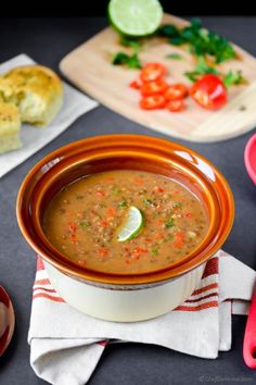 Lentil soup, Lentils and Soups on Pinterest